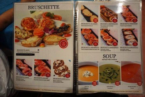 Umberto's Cuisineのメニュー