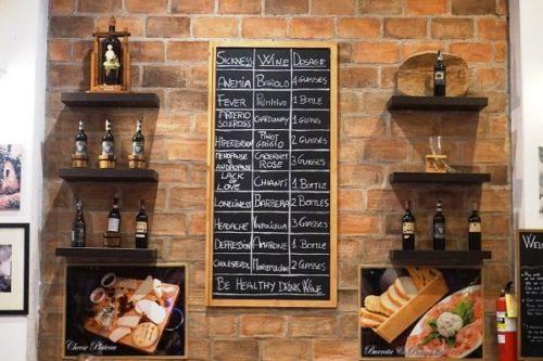 Umberto's Cuisineのワインリスト